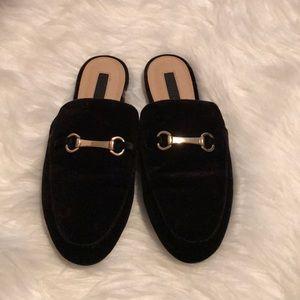 Black Suede Loafer Flats